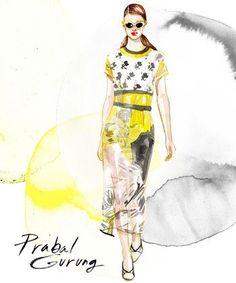 Fashion Week Illustrated: Artist Samantha Hahn's Painted Take On the NYFW Runways