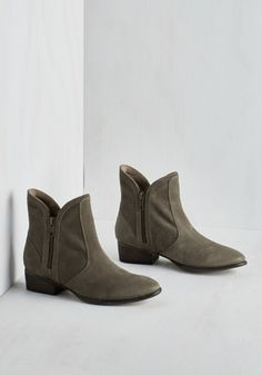Seychelles Seychelles Lucky Penny Bootie in Stone | Mod Retro Vintage Boots | ModCloth.com
