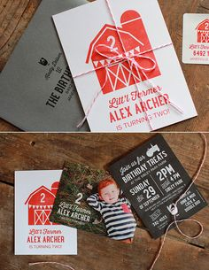 What's hot on pinterest? We're sharing our top pins just for you! This little farmer invitation is unique and so fitting for Alex's 2nd Birthday. #birthdayIdea #kidsBirthday