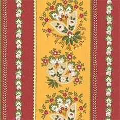 """600072-0-D (SKU: 73897)  Our Price: $14.99 per yard   Color: (prov 8)  Content: 100% Cotton  Country: France  Width: 59"""""""