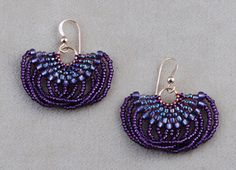 It is fun to use a slightly contrasting color of C-Lon to accent the beadwork on these earrings.