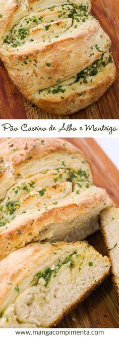 Receita de Pão de Alho e Manteiga - Caseiro. #pão #receita #alho #cafédamanhã #manteiga #lanche