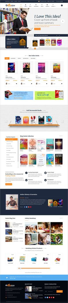 Book store is beautifully design responsive #WordPress theme for #bookshop, #publisher, book author or books library eCommerce website download now➩ https://themeforest.net/item/book-store-wordpress-theme-bookstore-wp/17674516?ref=Datasata