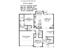 Traditional Style House Plan - 4 Beds 3 Baths 2619 Sq/Ft Plan #424-415 Floor Plan - Main Floor Plan - Houseplans.com