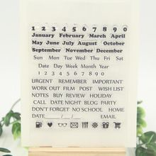 1 sheet DIY Projects Calendar Design Transparent Clear Rubber Stamp Seal Paper Craft Scrapbooking Decoration(China (Mainland))