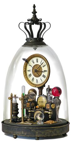 Clock in Fancy Glass Dome from Klockwerks by Roger Wood.