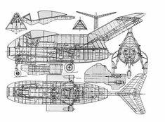Ta 183 drawing w/ Jumo 004 engine