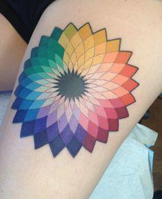 geometric colour wheel tattoo - Google Search