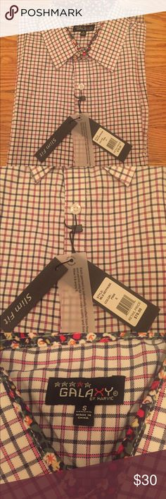 Galaxy button down shirt - small - slim fit Brand new with tags! Galaxy by Harvic Shirts Dress Shirts
