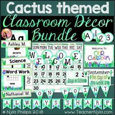 Cute Cactus Classroom Decor And Check Out This Post For Free