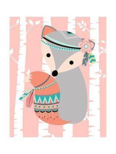 Tribal Fox Girl I By Tamara Robinson Canvas Art - Multi My Canvas, Canvas Artwork, Tribal Fox, Fox Girl, Kids Room Art, Baby Clothes Shops, Find Art, Baby Shop, Cartoon