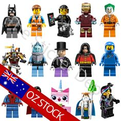 Complete Set Lego Minifigures Character Wall Safe MOVABLE Stickers - stickerdepot.com.au