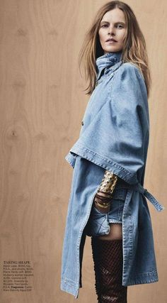 Denim Look Vogue Australia January 2013