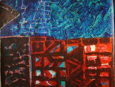 AC015 Akshat Charate 37x30 inches Mix medium Canvas | Aditi Arts Delhi