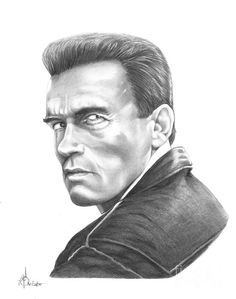 Arnold Schwarzenegger by Murphy Elliott ~ traditional pencil art