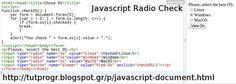 #Javascript #Rqadio #Programming #Code #Picture : http://tutprogr.blogspot.gr/p/javascript-document.html https://plus.google.com/u/0/b/110179768197910025766/110179768197910025766/posts