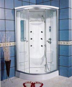 Corner Units Steam Fibergl Showers With Blue Ceramic Wall Http Lanewstalk