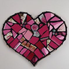 Stayed in this morning, grouting. #mosiac #piqueassiette #heart