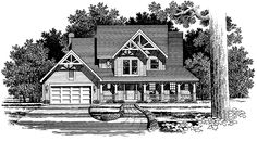 Country House Plan with 2304 Square Feet and 4 Bedrooms from Dream Home Source | House Plan Code DHSW54062