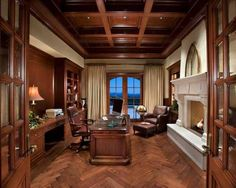 Bubble Office Design Prague Office Traditional Office   Traditional   Home  Office   Phoenix   R. Gurley Custom Homes