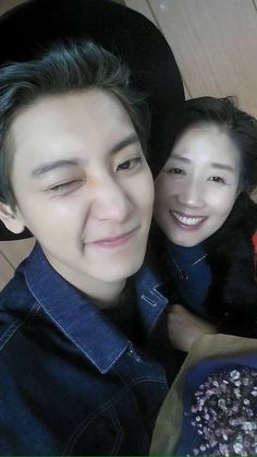 Remember this cute selca of Park Chanyeol with Mama Park