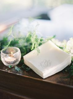 gray-calligraphy-monogram-wedding-napkins