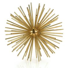Brass Sputnik Sculpture, similar to Kelly Wearstler Kaleidoscope, in satin brass Kelly Wearstler, Home Decor Accessories, Decorative Accessories, Gold Spray Paint, Gold Table, Luxury Home Decor, Handmade Home Decor, My New Room, Decorative Objects