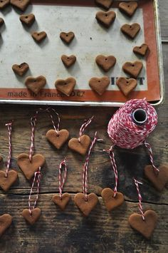 Cinnamon ornaments- they make your tree smell AMAZING! : Cinnamon ornaments- they make your tree smell AMAZING! Noel Christmas, Homemade Christmas, All Things Christmas, Winter Christmas, Christmas Ornaments, Diy Ornaments, Dough Ornaments, Gingerbread Ornaments, Homemade Ornaments