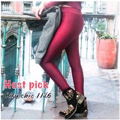 Burgundy leggings pants OS NEW price firm-NO tradres.. OS FITS  ( 2-6) High semi shiny quality lycra Powernet material Professional designed to give you the perfect shape! Front seam. Like disco pants with no cellulite show up. Durable and breathable, Machine wash cold, no dryer. Limited quantities. Made in Colombia Gitana Pants Leggings