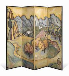 Provençal Valley screen Roger Fry Omega Workshops 1913