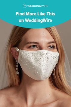 This bedazzled satin wedding mask is one of our WeddingWire editors' top picks. Click for more wedding mask ideas. Planning your wedding has never been so easy (or fun!)! WeddingWire has tons of wedding ideas, advice, wedding themes, inspiration, wedding photos and more. {David's Bridal}