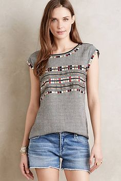 I like the detailing, cut, and the colors on this top.