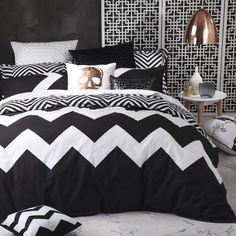 Logan and Mason Marley Black Duvet Cover Set - view full collection - duvet covers - queenb