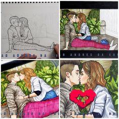 Desenho de Lutteo!! Juan Da Corte es en verdad un gran dibujante! 💕😍 Lutteo em desenho Image Fun, Son Luna, Disney Films, Cute Couples, Cats, The Moon, Chess Pieces, Gatos, Adorable Couples