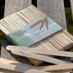 Etiquettes semis en bois