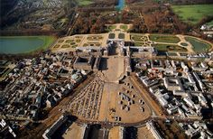 The Palace at Versailles. Versailles, France. Louis Le Vau and Jules Hardouin-Mansart (architects). Begun 1669 C.E. Masonry, stone, wood, iron, and gold leaf (architecture); marble and bronze (sculpture); gardens.