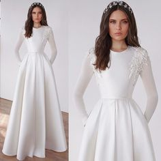 15 Dreamy Long sleeve wedding dresses that you want to wear - long-sleeved wedding dress , wedding gown Muslimah Wedding Dress, Muslim Wedding Dresses, Wedding Dress Trends, Modest Wedding Dresses, Bridal Dresses, Wedding Gowns, Wedding Ideas, Beautiful Gown Designs, Beautiful Gowns