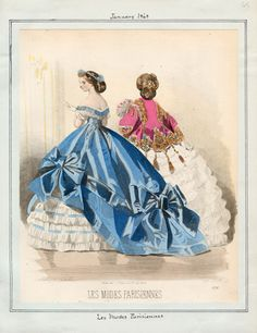 In the Swan's Shadow: Peterson's Magazine, January 1865 Civil War Era Fashion Plate