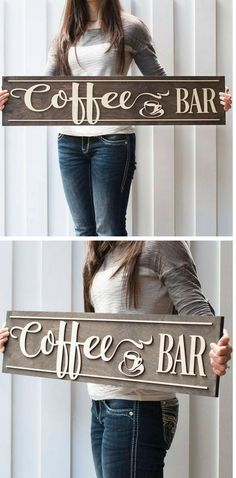 p/coffee-bar-sign-coffee-coffeesign-sign-decor-art - The world's most private search engine Coffee Bars In Kitchen, Coffee Bar Home, Coffee Bar Signs, Coffee Wine, Coffee Shop, Coffe Bar, Cheap Interior Wall Paneling, Wine Signs, Beach House Decor