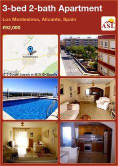 3-bed 2-bath Apartment in Los Montesinos, Alicante, Spain ►€92,000 #PropertyForSaleInSpain