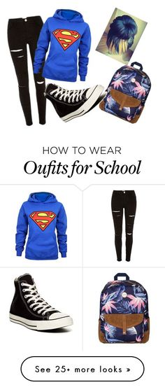 """""""Bored af in school"""" by kirra-joy-brooks-02 on Polyvore featuring Roxy and Converse"""