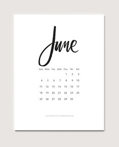 Download a free printable calendar for June 2017 | © typeandgraphicslab.com | For personal use only