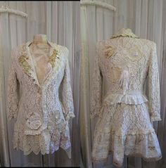 Shabby Lace Jacket romantic lacy victorian by TatteredDelicates