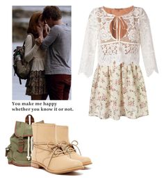 Emma Decody - Bates Motel by shadyannon on Polyvore featuring polyvore fashion style For Love & Lemons Timberland Wet Seal clothing