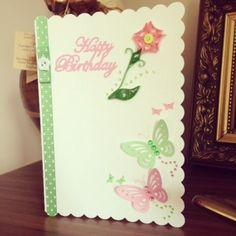 quilled birthday card £3.00