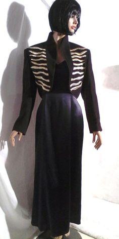 Lange jurk met lang vest
