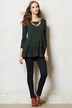 Tiered Sweater Tunic #anthropologie