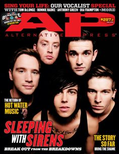 Sleeping With Sirens First Alternative Press AP cover!