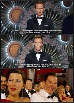 The sound you get when John Travolta tries to announce Ben Affleck