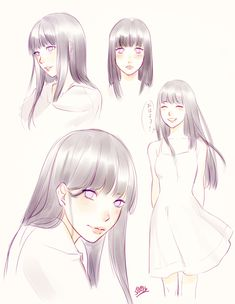 "herukas: "" I just dont' know how to stop myself from drawing more of Hinata Hyûga;;; """